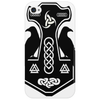 Norse Thor's Hammer with Ravens Phone Case