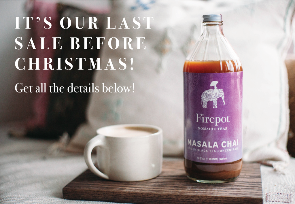 It's Our Last Sale Before Christmas! Get all the details below!