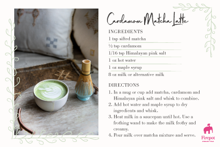 Cardamom Matcha Latte recipe card