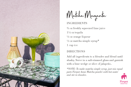 Matcha Margarita recipe card
