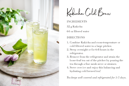 Kukicha Cold Brew recipe card