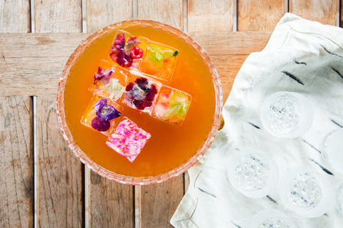 Firepot Fruit Tea with Edible Flower Ice