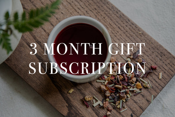 3 Month Gift Tea Subscription - Give the Gift of Sustainably Sourced Tea and Chai. Choose from masala chai, hibiscus elixir, and more.