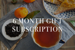 6 Month Gift Tea Subscription - Give the Gift of Sustainably Sourced Tea and Chai. Choose from masala chai, hibiscus elixir, and more.