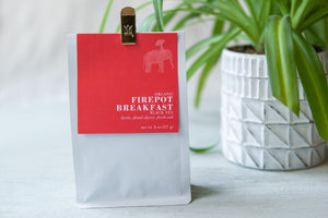 6 Month Gift Tea Subscription - Organic Firepot Breakfast Black Tea, 2oz - lively, dried cherry, fresh oak