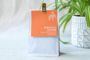 12 Month Gift Tea Subscription - Caffeine Free Hibiscus Elixir Botanical Blend - revitalizing, red fruit, ginger juice