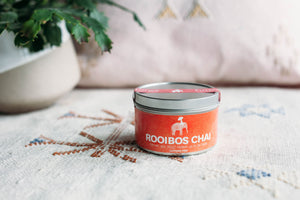12 Month Gift Tea Subscription - 3oz Rooibos Chai Spiced Caffeine Free Concentrate Powder Tin, Award Winning Chai
