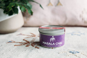 12 Month Gift Tea Subscription - 3oz Masala Chai Spiced Black Tea Concentrate Powder Tin, Award Winning Chai