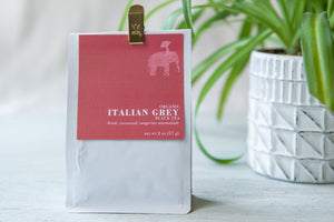 6 Month Gift Tea Subscription - Organic Italian Grey Black Tea, 2oz - brisk, rosewood, tangerine marmalade