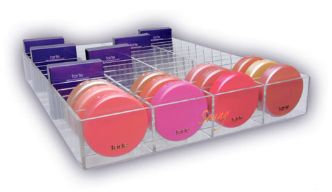 Acrylic Compact Blush Makeup Organizer Ikea Alex Drawer Insert Divider Sonny Cosmetics