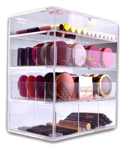Worlds best Acrylic Beauty Box Makeup Organizer Cosmetics Cube the Original fully customizable
