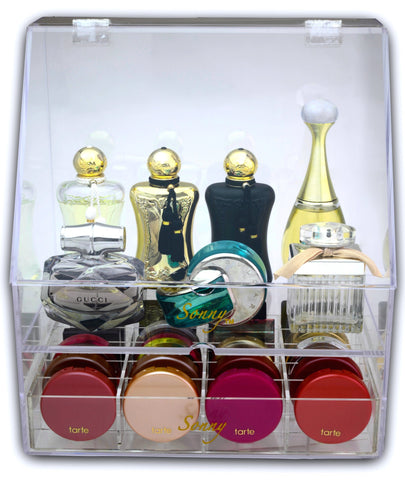 Covered Perfume Box & Makeup Organizer