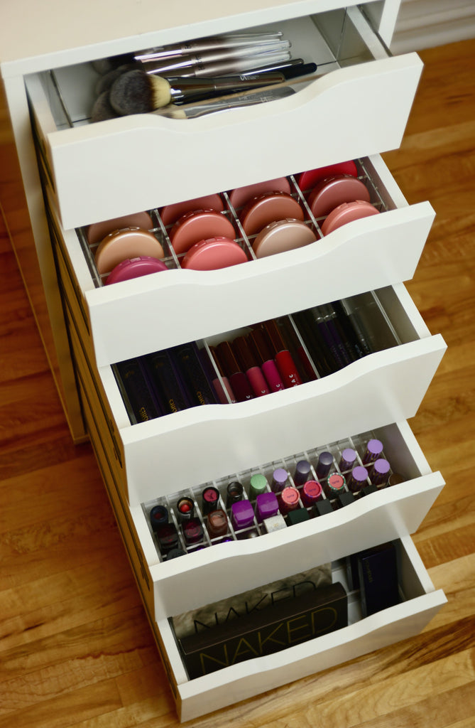 Acrylic Compact Makeup Drawer Organizer For Ikea Alex