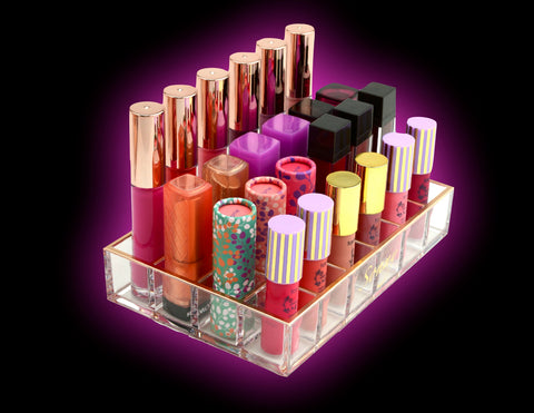 Rose Gold 24 Slot Lipstick Organizer