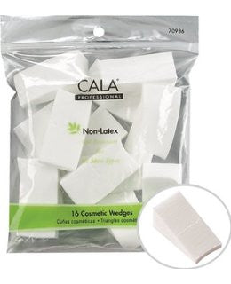 Cala Non-Latex Cosmetic Wedges|TRIANGLES COSMÉTIQUES – ÉPONGE SANS LATEX