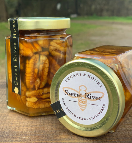 Sweet River Honey Premium Honey with Texas Pecans 9 oz