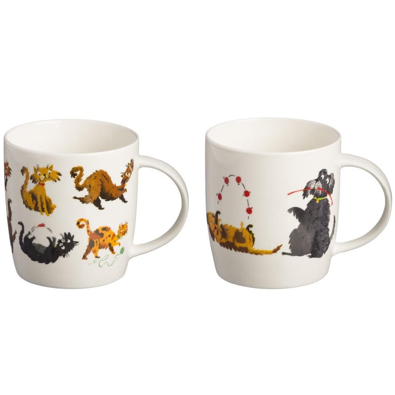 Price & Kensington 0059.127 Fine China Mug pkt 1 - Cats or Dogs