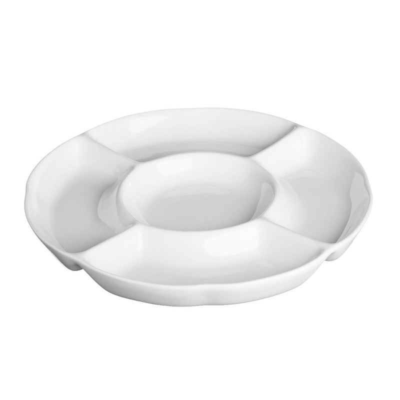 Price & Kensington 0059.415 Simplicity White Serving Dish 5 Section