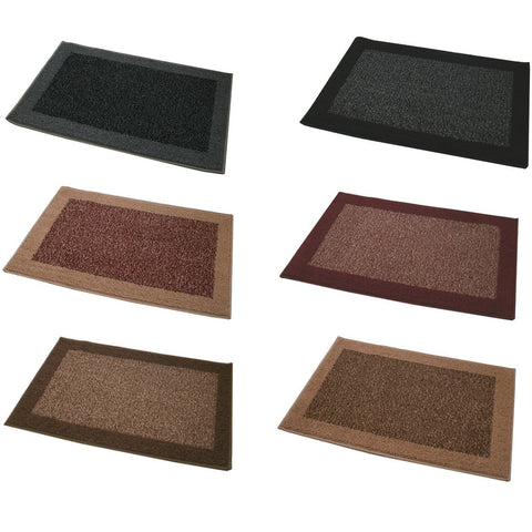 JVL 01-118 Madras Washable Doormat 50x80cm - Various Colours