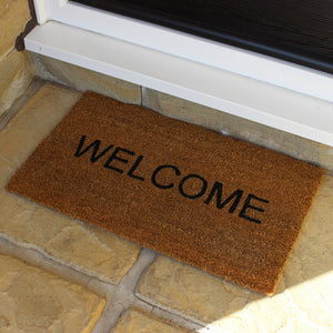 JVL 02-424 Welcome PVC Coir Doormat 40x70cm