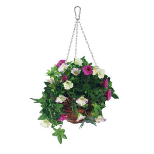 "The Garden & Home Co. 02844 12"" Artificial Petunia Hanging Basket"