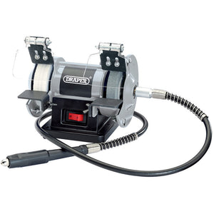 Draper 06498 Mini Bench Grinder With Flexi Shaft