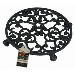 "Blacksmith 09096 31cm (12.5"") Cast Iron Pot Trolley - Round"