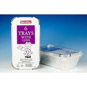 Caroline Aluminium Foil Trays & Lids - Various Sizes
