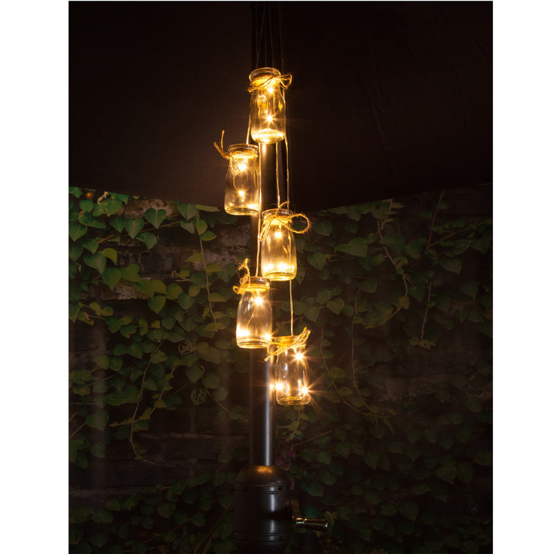 Noma 1017014 5 Bottled LED Parasol Cluster Lights