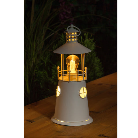 Noma 1017016 Metal Lighthouse Lantern With Vintage Style Bulb