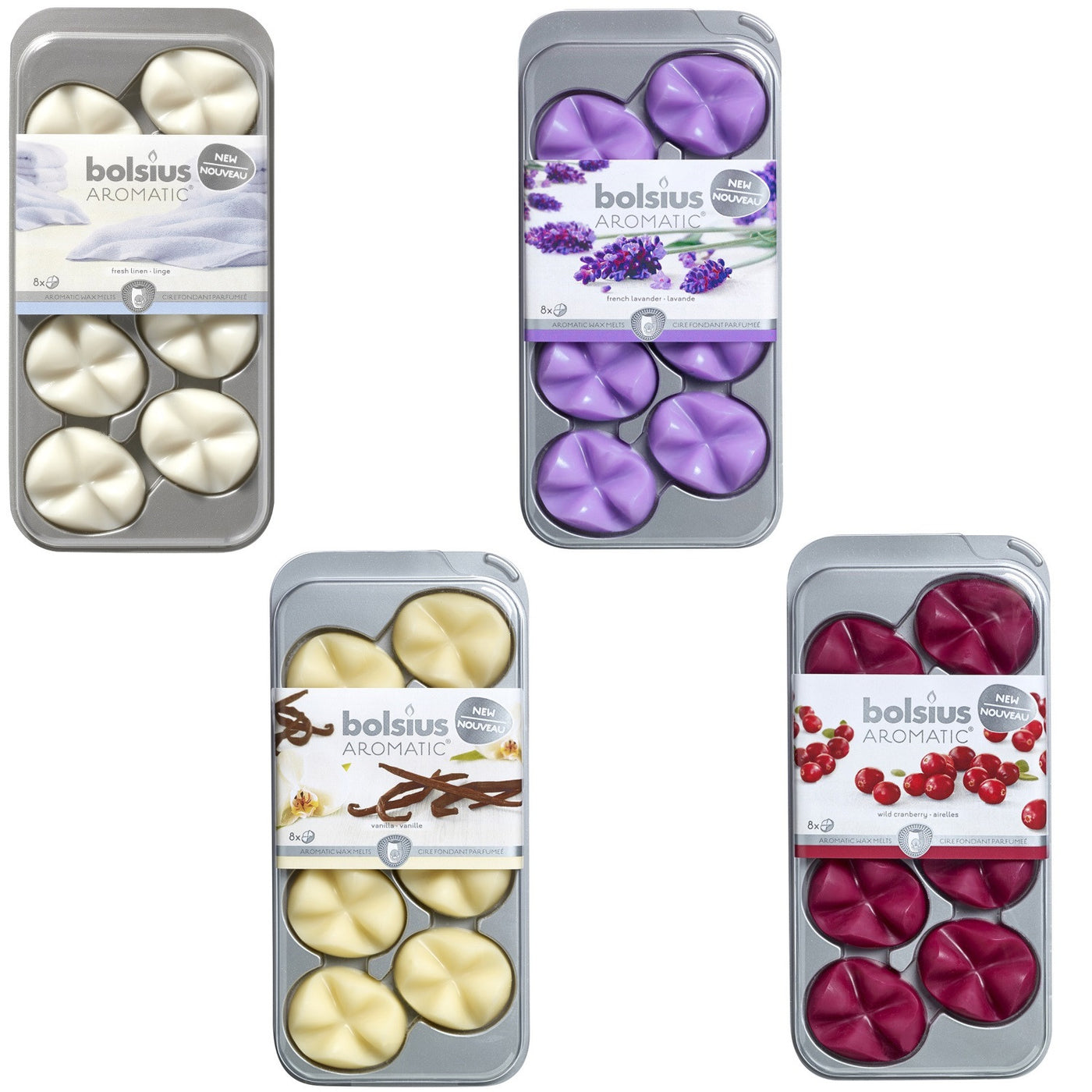 Bolsius Wax Melts.Bolsius Aromatic Scented Wax Melts Pkt8 Various Scents W