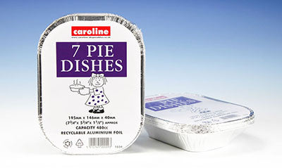 Caroline 1034 Aluminium Foil Rectangular Pie Dishes Pkt7