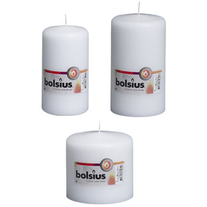Bolsius Pillar Candle White - Various Sizes