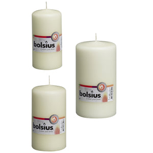 Bolsius Pillar Candle Ivory - Various Sizes