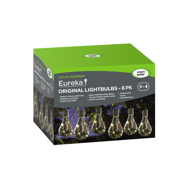 Smart Garden 1080920RD Eureka! Solar Powered Lightbulbs 6Pk