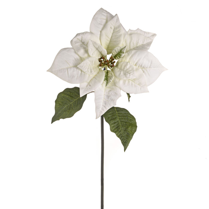 Artificial 11178540 Giant Poinsettia White Length 63cm