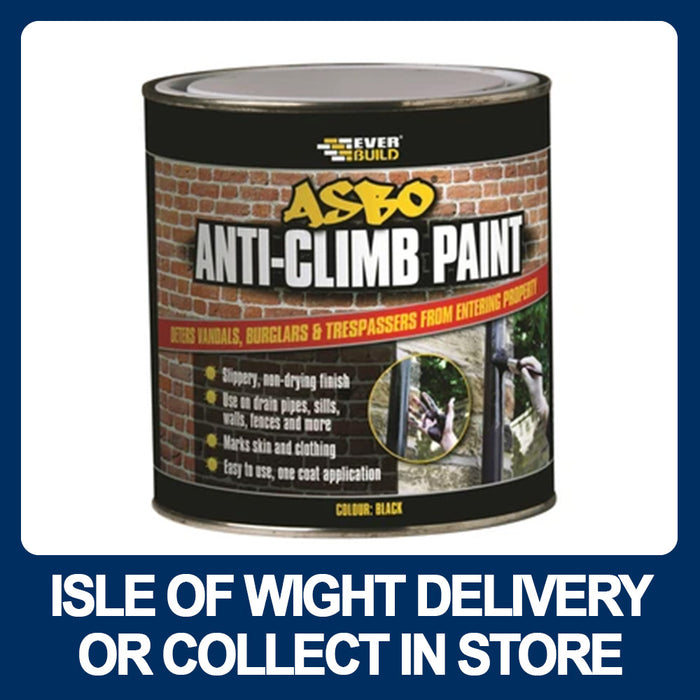 Everbuild ANTICLIMB1 Asbo Anti-Climb Paint 1Ltr Black