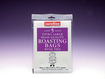 Caroline 1128 Extra Large Roasting Bags with Ties Pkt5