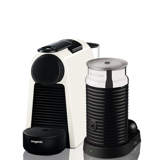 Magimix 11372 Nespresso Essenza Mini & Aeroccino - Pure White