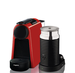 Magimix 11373 Nespresso Essenza Mini & Aeroccino - Ruby Red