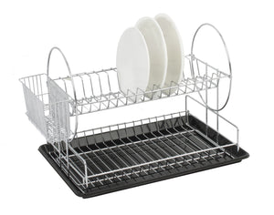 Sabichi 126269 Chrome Dish Drainer 2 Tier