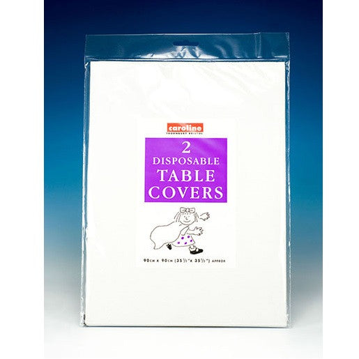 Caroline Disposable Table Covers Pkt2 - Various Colours