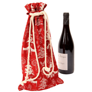 Dexam 16050355 Winter Garden Champagne & Wine Gift Bag