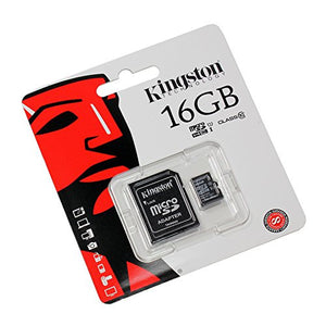 Kingston SDC4/16GB Micro SDHC 16gb Card with Micro SD Adaptor