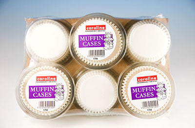 Caroline 1706 Muffin Cases White Pkt50