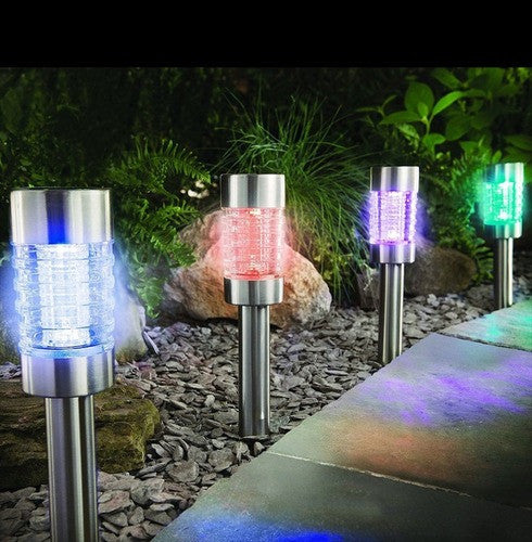 Cole & Bright 18221 Colour Changing Solar Marker Light LED Pkt1