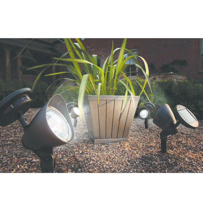 Cole & Bright L22100 Solar Powered Spot Light Pkt1