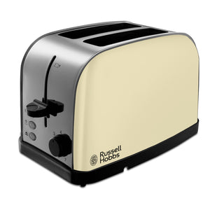 Russell Hobbs 18783 Dorchester Toaster 2 Slice Cream Stainless Steel