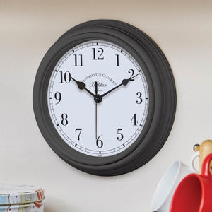 Outside In Designs 5160071 Halifax Wall Clock 22cm - Black