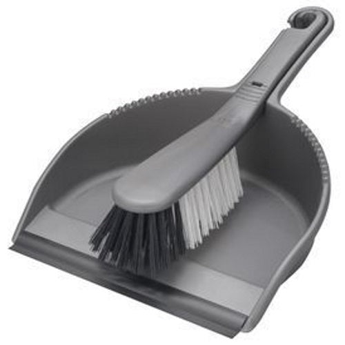 Addis 510405 Dustpan & Stiff Bristle Brush Set - Metallic